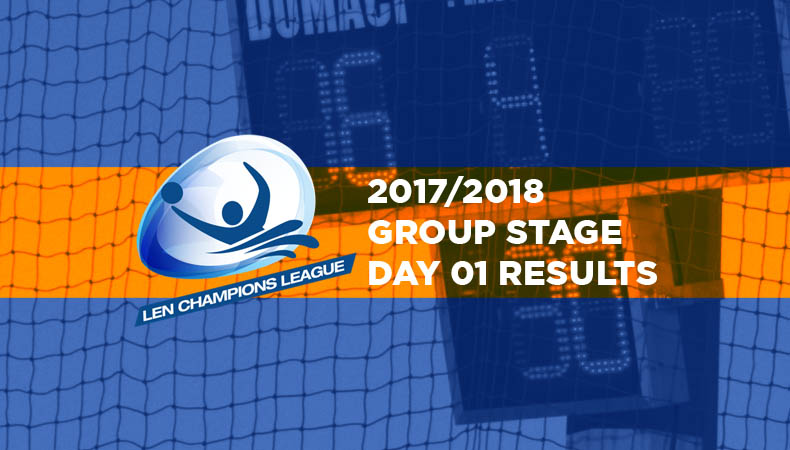 LEN-champions-league-2017-2018-Group Stage Day 01 Results