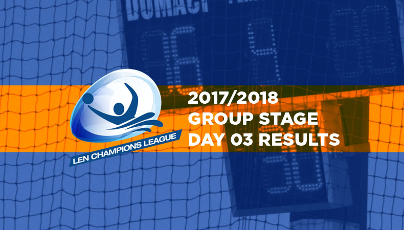 LEN-champions-league-2017-2018-Group Stage Day 03 Results