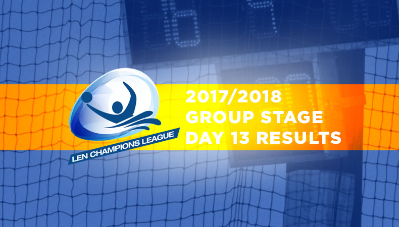 LEN-champions-league-2017-2018-Group Stage Day 13 Results