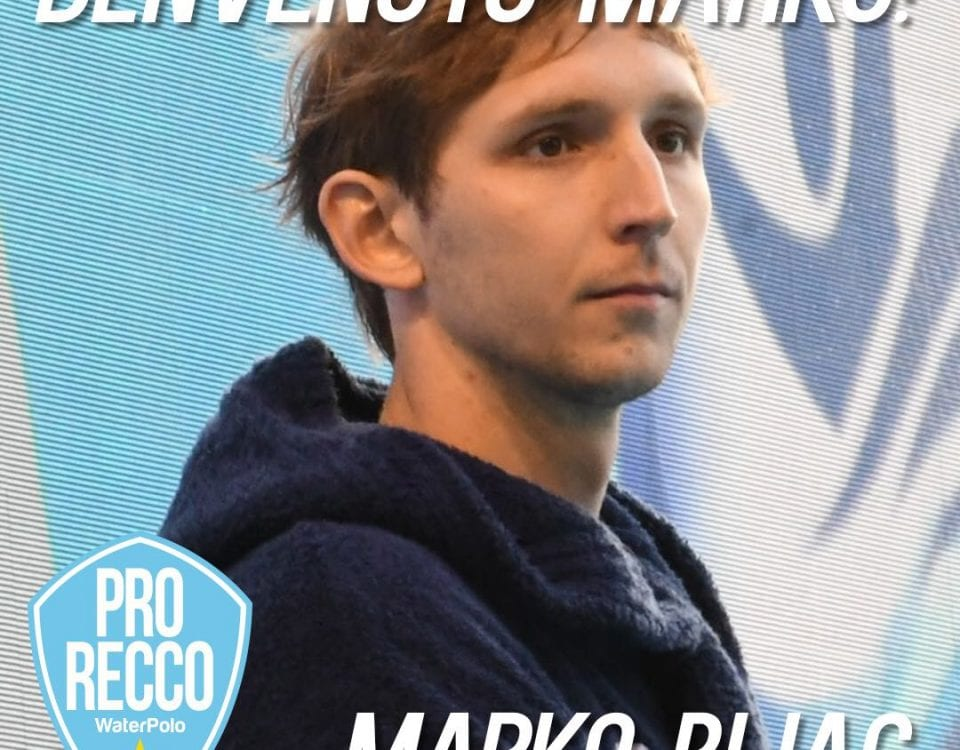 Marko Bijac Sings With Pro Recco!