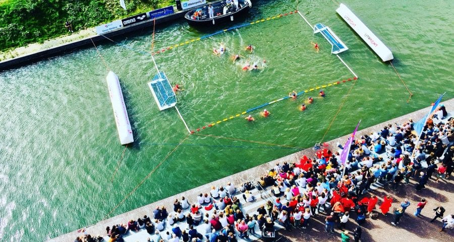 Beach Water Polo on the Rivers of Utrecht, Netherlands!