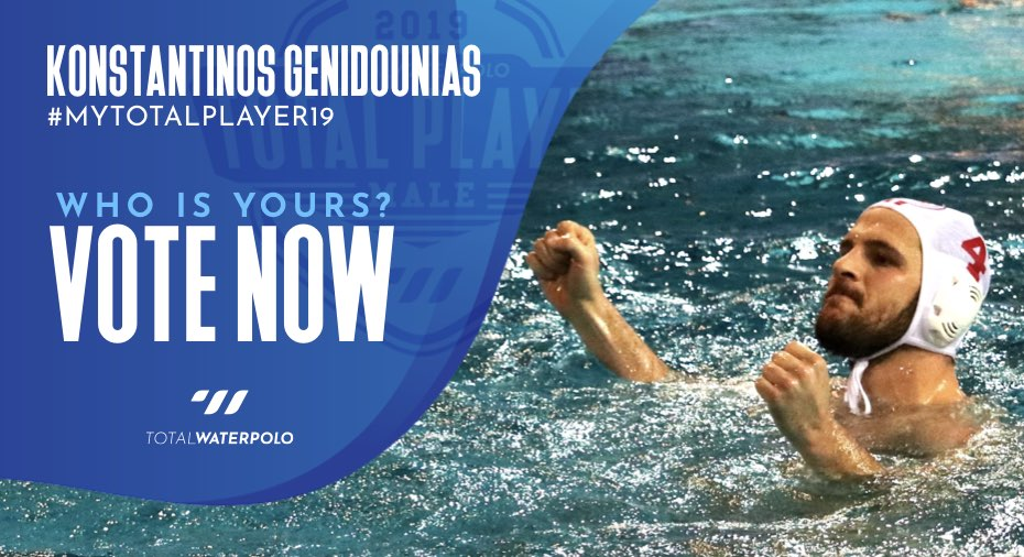 Konstantinos Genidounias is My TOTAL PLAYER 2019