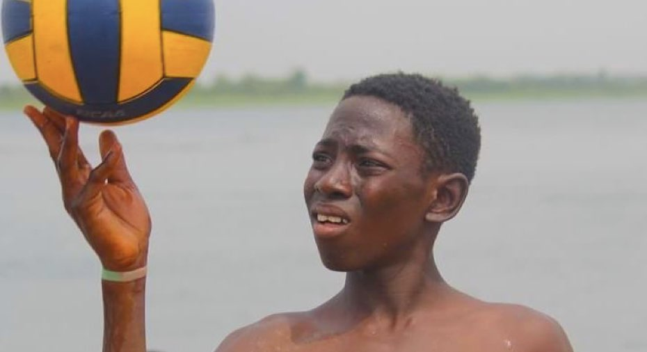 Young water polo player in Ghana